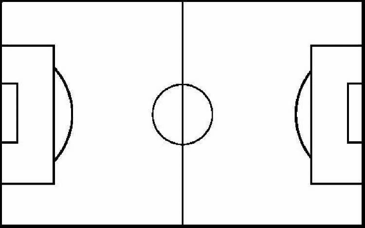Clean image in printable soccer field layout