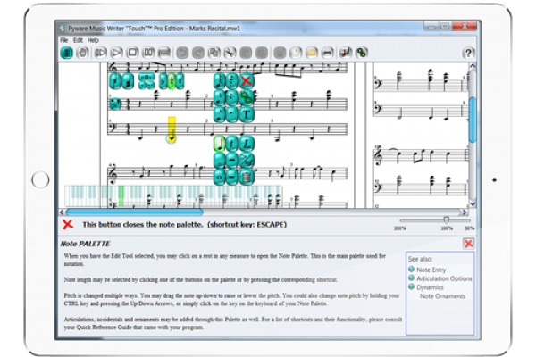 Touchscreen CompatibleWe created Music Writer Touch to be up to date and compatible with common classroom trends so that instructors everywhere can use our program. No touch screen? Not a problem! MWT is still easy to use with a standard keyboard and mouse.